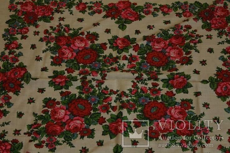 Шерстяной старинный платок №112, фото №7