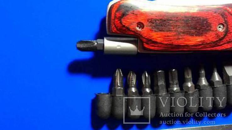 Нож раскладной с насадками, фото №6