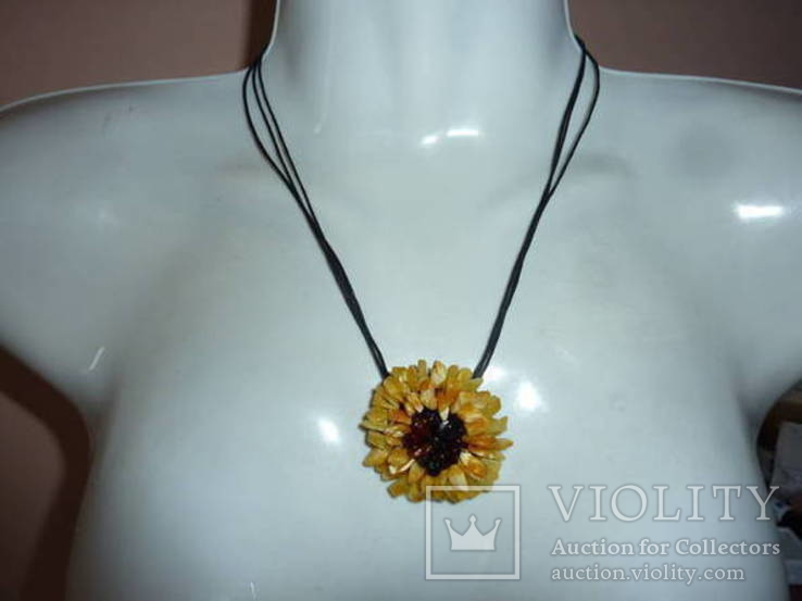 Ожерелье с янтарем, фото №2