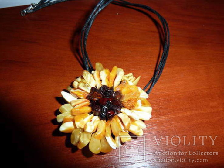Ожерелье с янтарем, фото №3