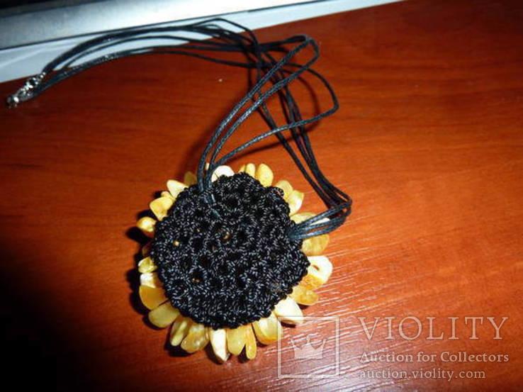 Ожерелье с янтарем, фото №4
