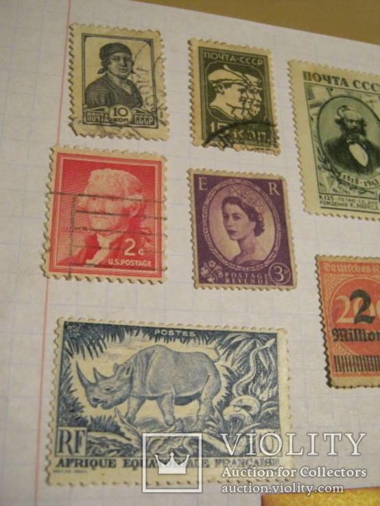 Старые почтовые марки СССР, США, Германии и пр. 10 шт., фото №5