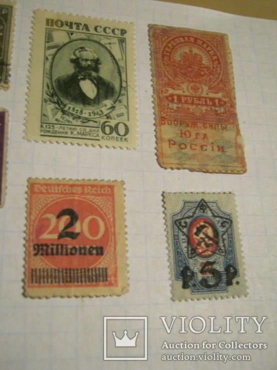 Старые почтовые марки СССР, США, Германии и пр. 10 шт., фото №6
