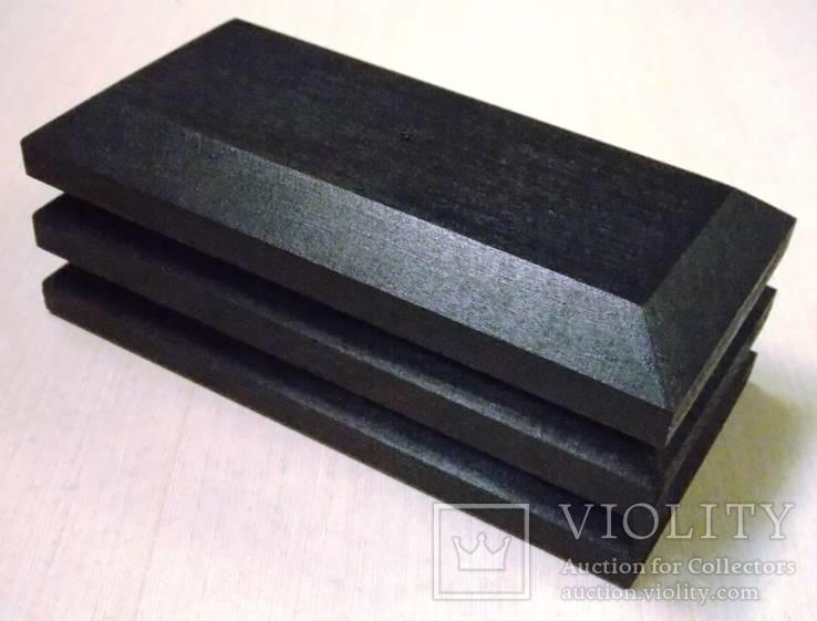 3 шт Подставка для моделей авто масштабом 1:43 Цвет Черный. Материал дерево, фото №4