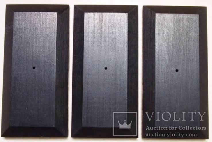 3 шт Подставка для моделей авто масштабом 1:43 Цвет Черный. Материал дерево, фото №5