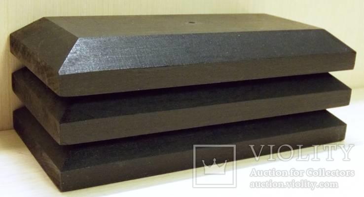 3 шт Подставка для моделей авто масштабом 1:43 Цвет Черный. Материал дерево, фото №6