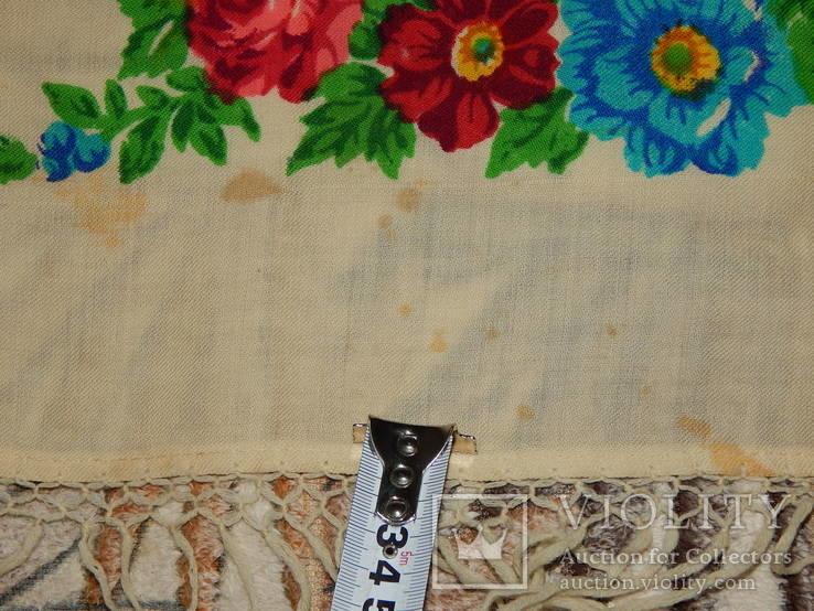 Платок большой с бахромой ссср шерсть 0148, фото №5