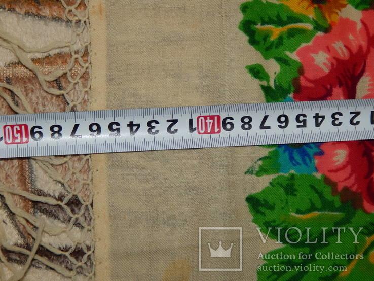 Платок большой с бахромой ссср шерсть 0148, фото №7