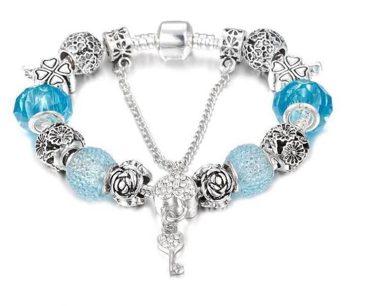 Синие Хрустальные Бусины Из Муранского Стекла. Стиль Pandora. №9