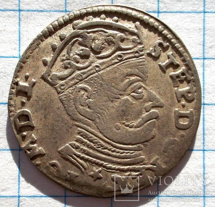 Три гроша Стефан Батори 1581.