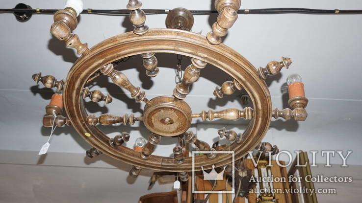 Люстра колесо., фото №6
