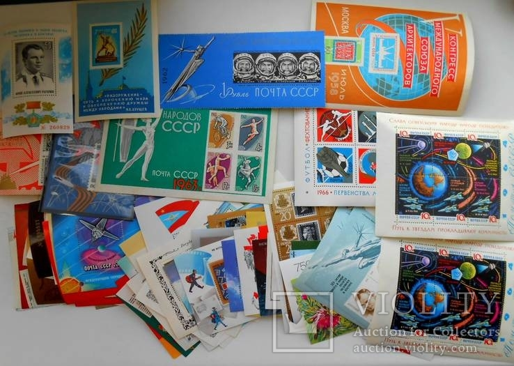 Почтовые блоки СССР 150шт. разные без повторов.