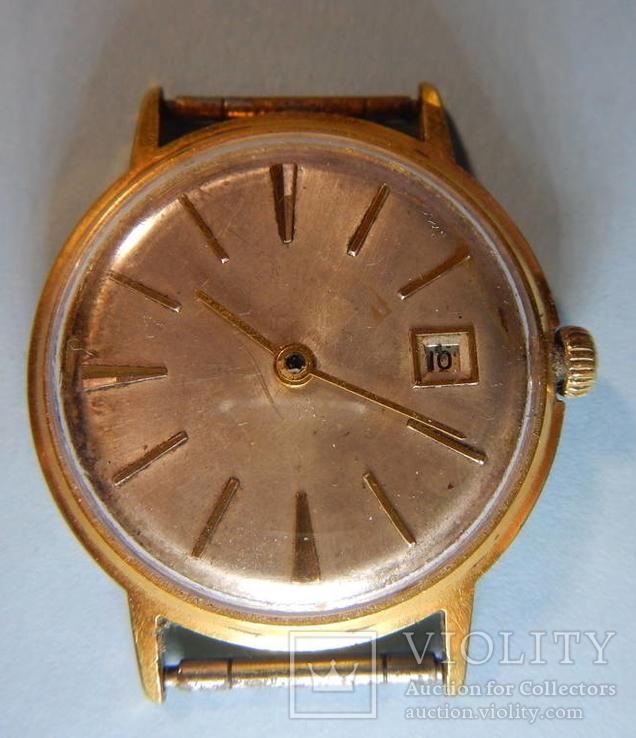 """Часы """"Полёт de lux"""", автоподзавод, 29 камней, клеймо /Au 20/"""