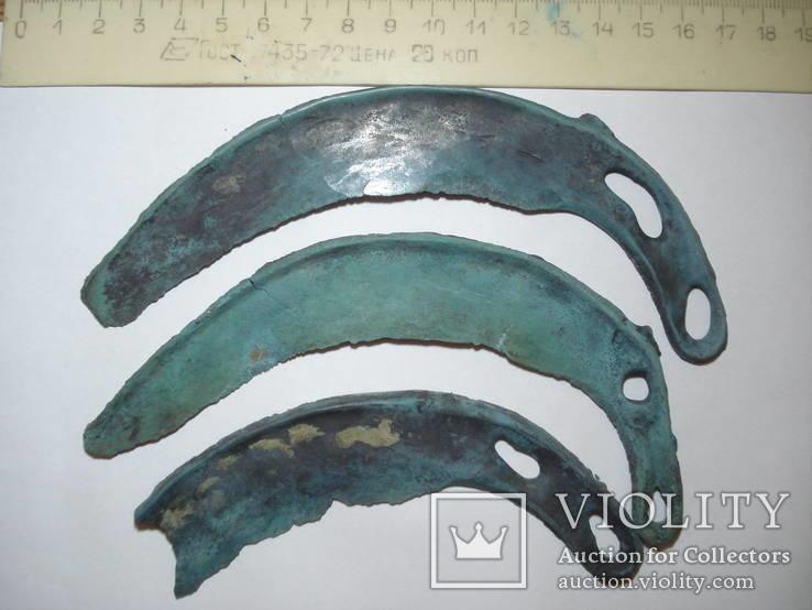 Культура Ноуа, серп Карпатского типа - 3шт