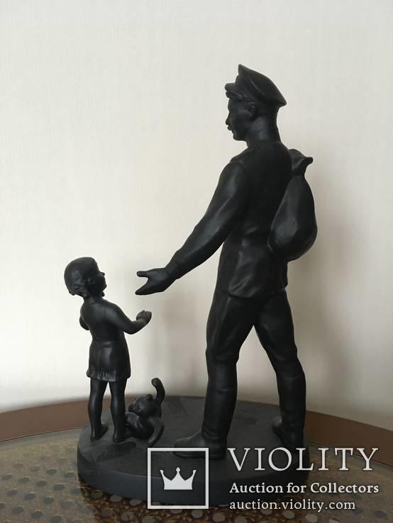 Пришел отец с войны (Касли, 1975г.) 16х27см.