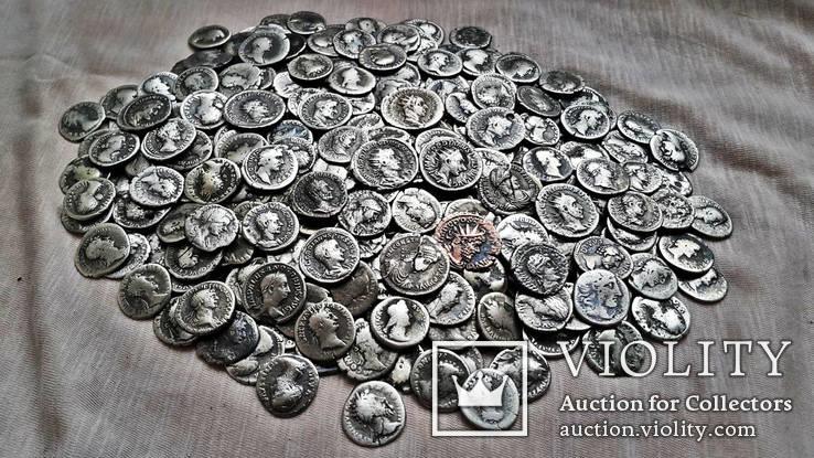 Коллекция Римских Антонианов, Денариев, Силикв 350 штук, 936 гр.