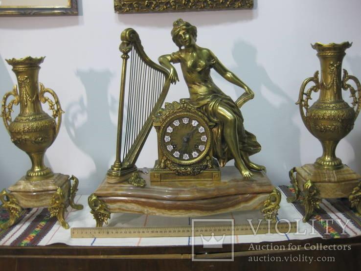 Бронзовые часы с вазами , более 30 кг