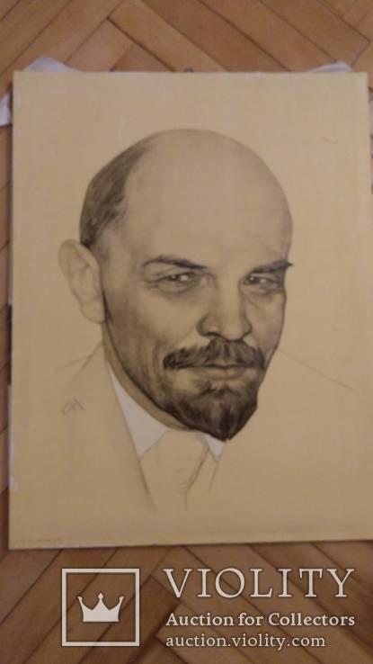Ленин (печать на холсте,на подрамнике).