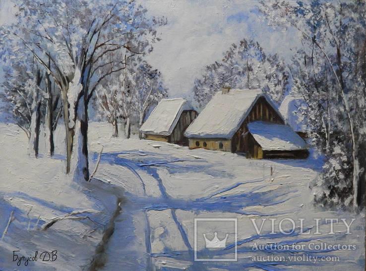 Зимний пейзаж 30x40см.