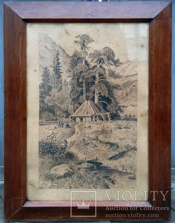 """Картина """"Сельский пейзаж"""" 1910 год"""