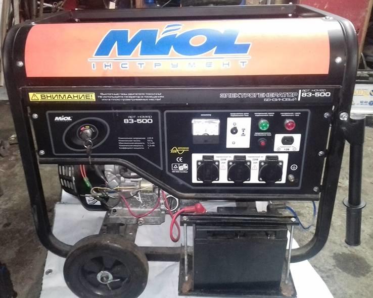 Бензиновый генератор Miol 83-500 без резерва