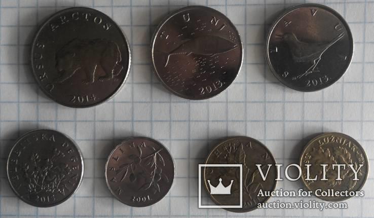 Хорватія - Підборка монет: 5, 2, 1 куна, 50, 20, 10, 5 липа, фото №5