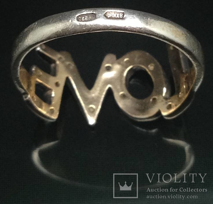 Кольцо, цирконы, фото №5