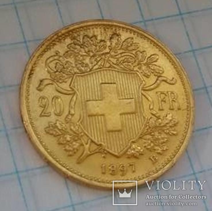 20 швейцарских франков 1897, фото №10