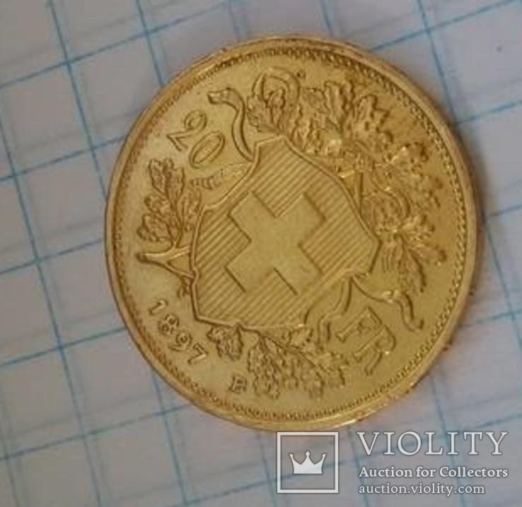 20 швейцарских франков 1897, фото №12