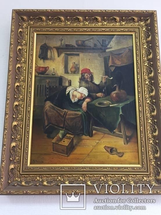 Картина ''Веселье'', Европа, малые голландцы (копия).