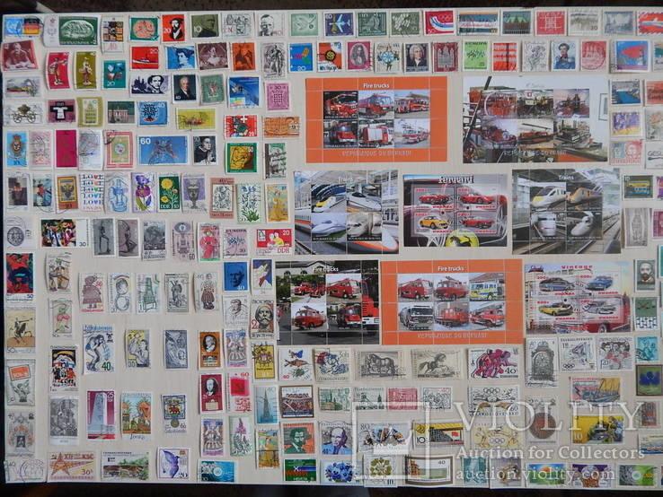 Лот марок с блоками.