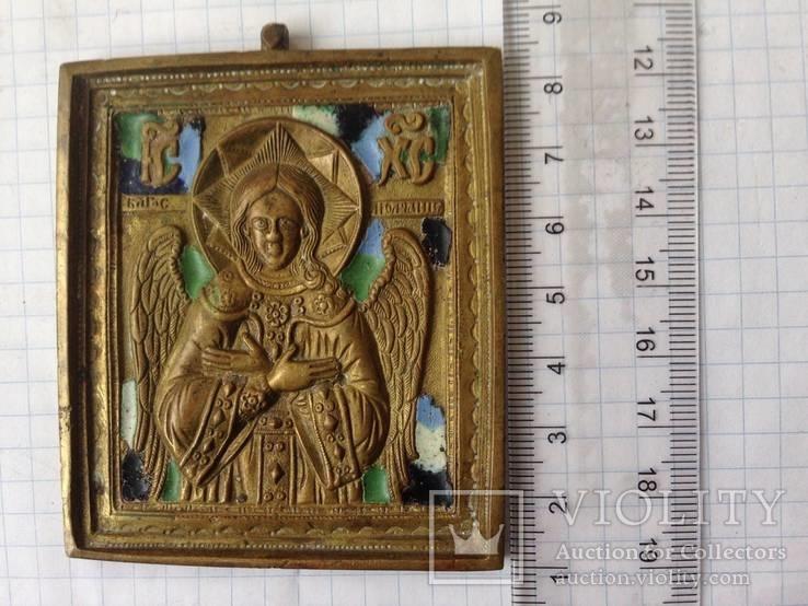 Икона литая Спас Благое молчание (емали)