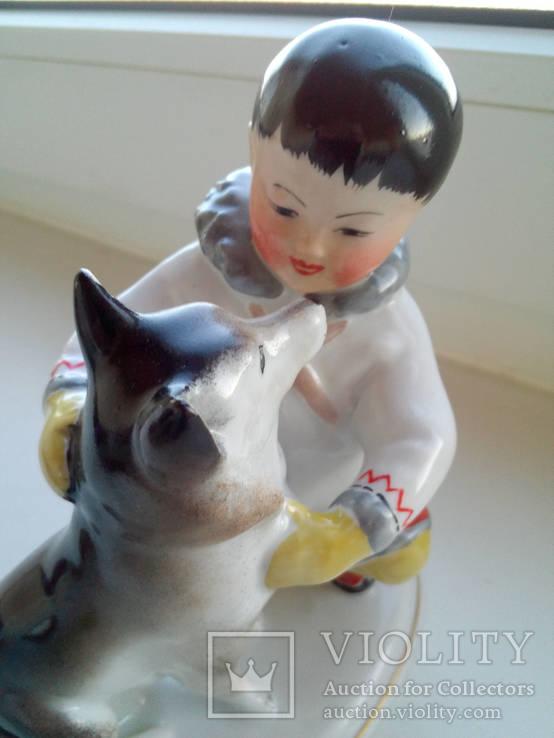 Мальчик чукча  с собакой ЛФЗ
