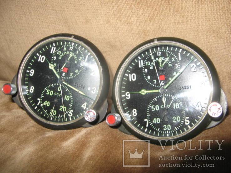 Часы авиационные бортовые АЧС-1 пара одним лотом