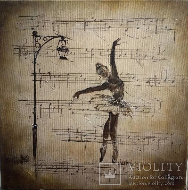 Танец. И.Мовчан. 35х35 см.