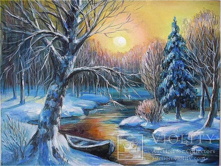 ''Зимний вечер'' 35 * 45 масло