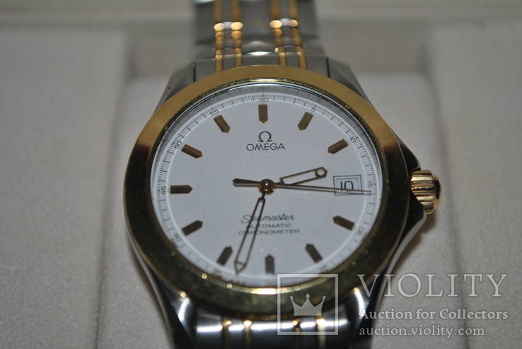Omega seamaster automatic chronometer вставка золото 750