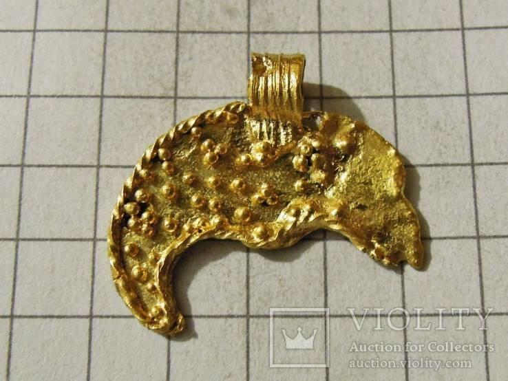 Лунница ЧК, золото 2,16 грамма