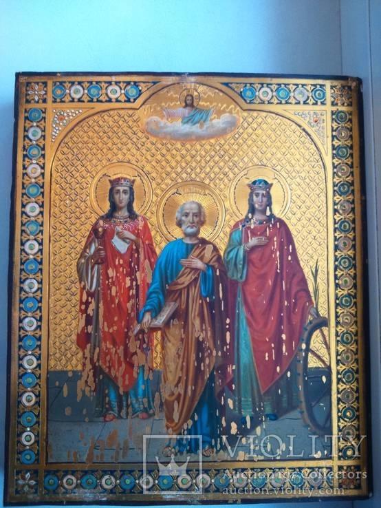 Большая золотофонная икона 1895 г.