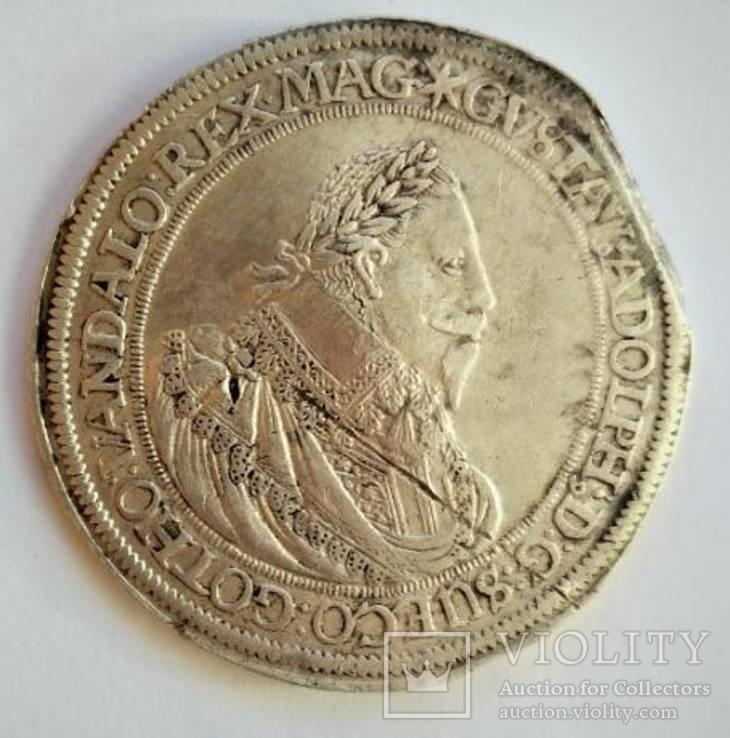 Талер 1632 года. Шведский король Густав Адольф. (Нюрнберг)