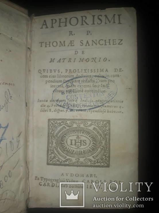 1629 Афоризмы о браке Томаса Санчеса