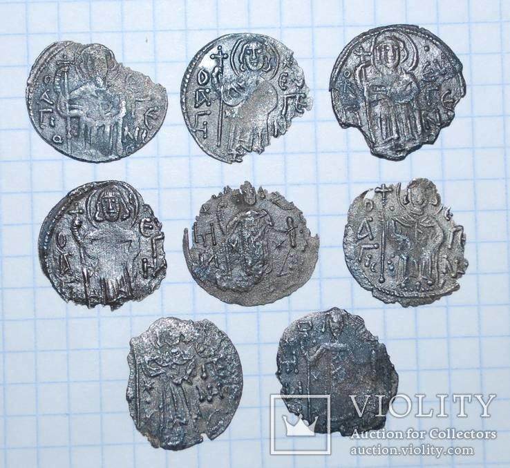 Трапезунд. Аспры Мануила I. 8 монет.