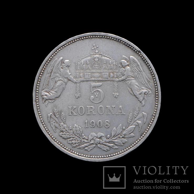 5 Корон 1908 КВ Ангелы, Австро-Венгрия