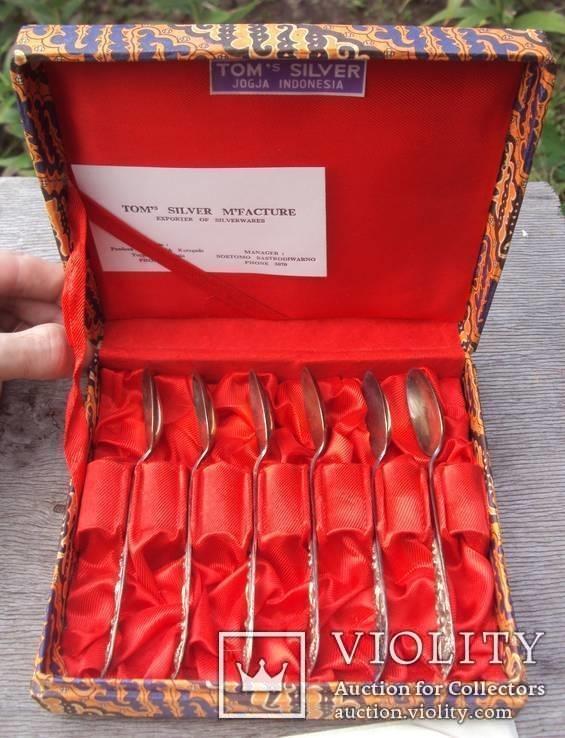 Набор кофейных ложек с коробкой, вес 88 грамм., фото №2