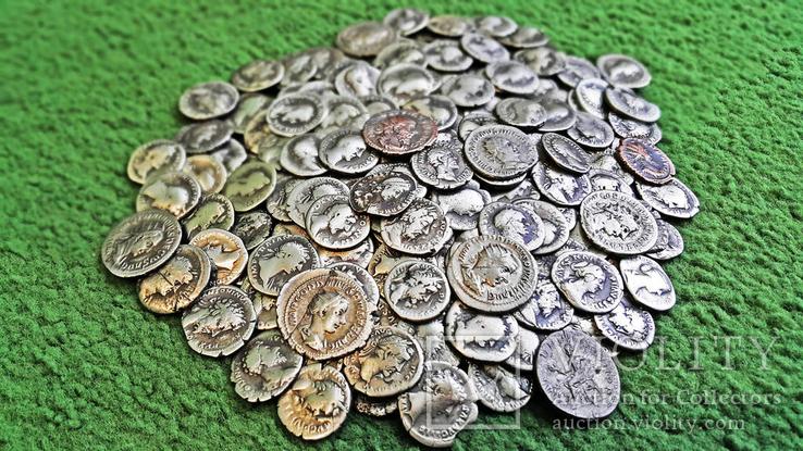 Коллекция римских монет (Антонианы, Денарии, Силиква) 235 штук + бонуси