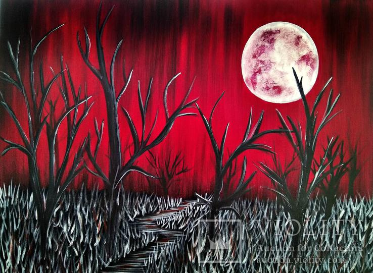 Тихая ночь (картина масло/холст). 60х80х2 см