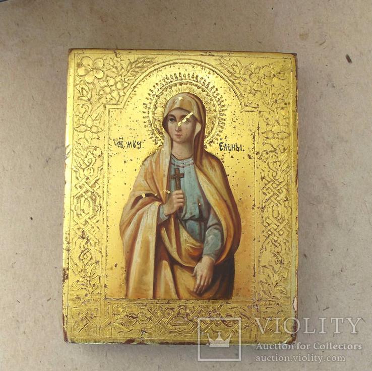 Икона образ Св. мученицы Елены. Позолота.