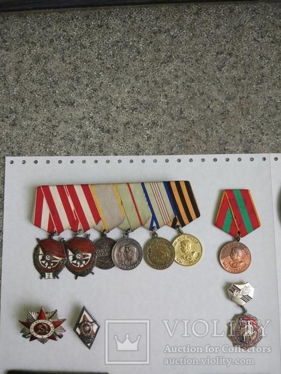 Комплект наград подполковника, разведчика. КЗ1+КЗ2+ОВ+польские награды. С документами.