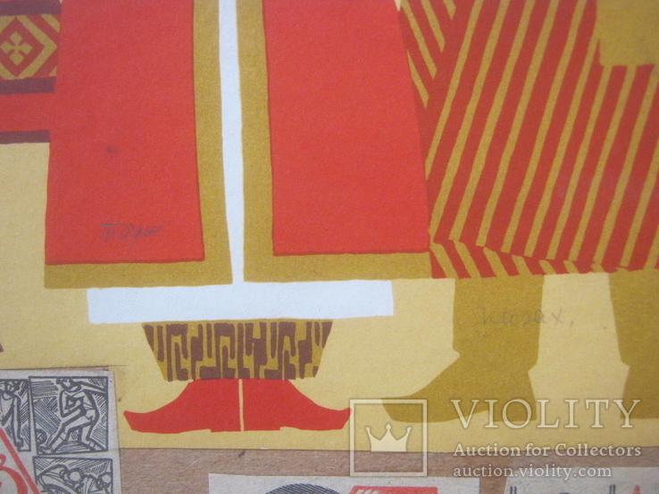 """""""Дружба народов"""" ,аппликация эскиз - пано 70-е г.г., фото №6"""