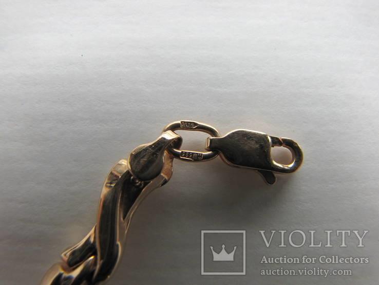 Браслет золото 585` 7,19гр фианиты, фото №4